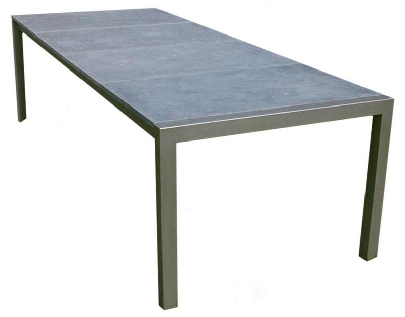 Table acier galvanis table de lit for Table de jardin en acier