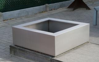 FLORIDA acier inox 98x98x35cm