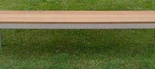 BANCO acier inox bois ipe