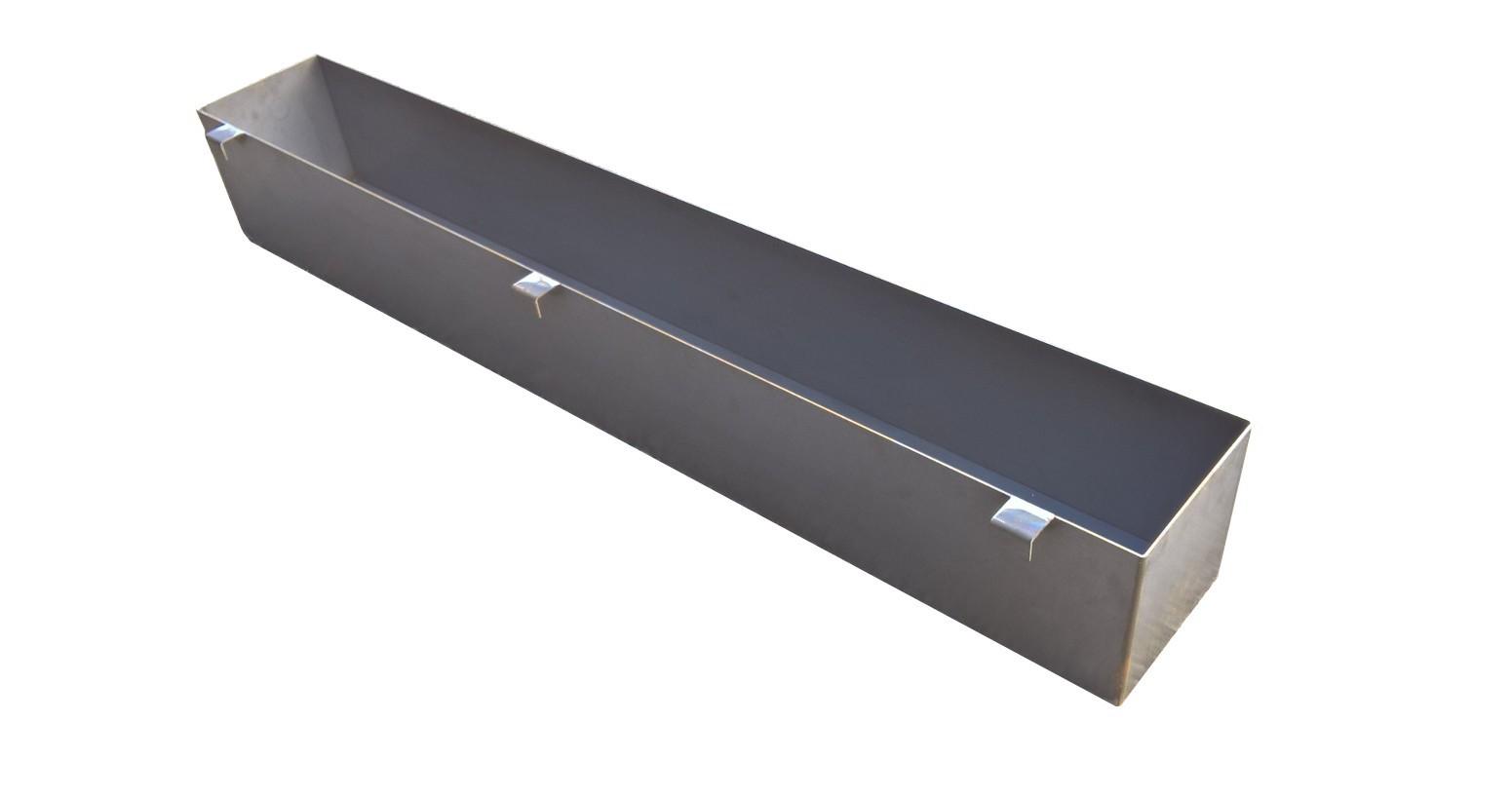 Balconnière corten 3mm - 175x25x25cm