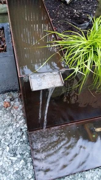 Fontaine - bac corten sur 2 niveaux