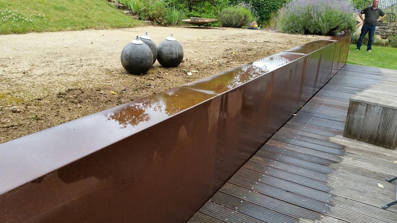 Terrasse Surélevée En Acier couvre-murs - dominox: jardiniere acier, bac, couvre