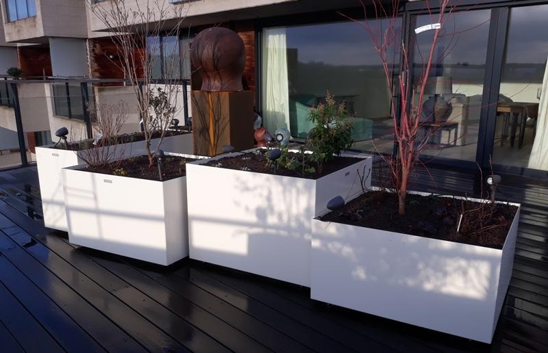 Jardinière Artica carrée et rectangulaire